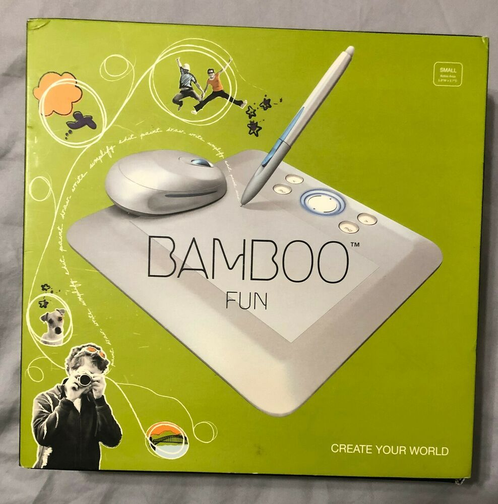 Details About Wacom Bamboo Fun Small Gray Graphics Tablet With Pen