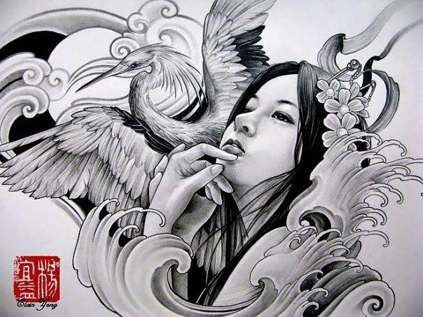 Pin Von Amponjit Wongkhamcham Auf Tattoos Geisha Tattoos Orientalisches Tattoo Japanische Tattoos