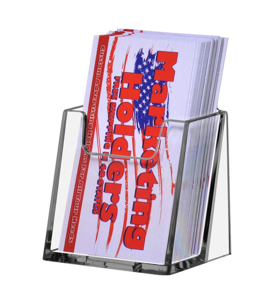 6 Acrylic Vertical Portrait Clear Business Card Holder Wholesale ...
