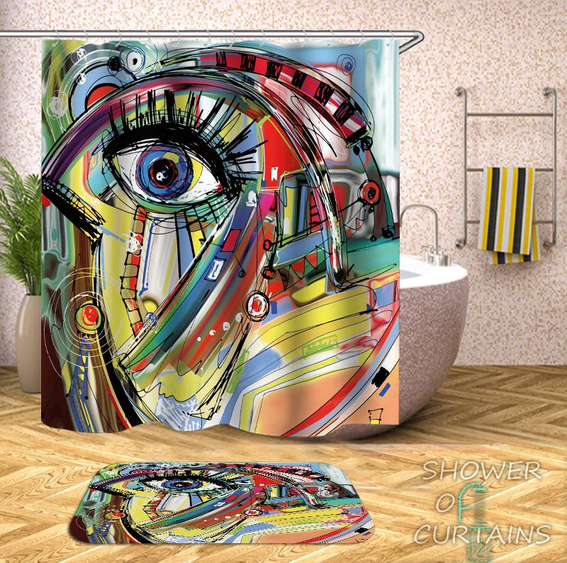 Art Painting Picasso  Shower Curtain - HXTC0878