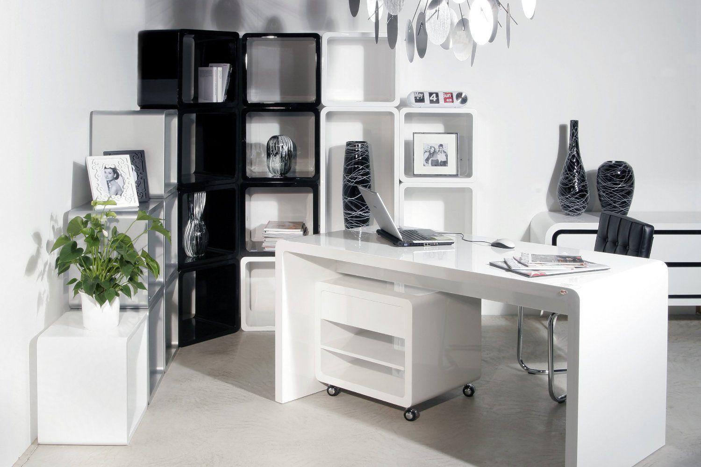 Design White Club Schreibtisch 180cm Hochglanz Weiß: | Home ...