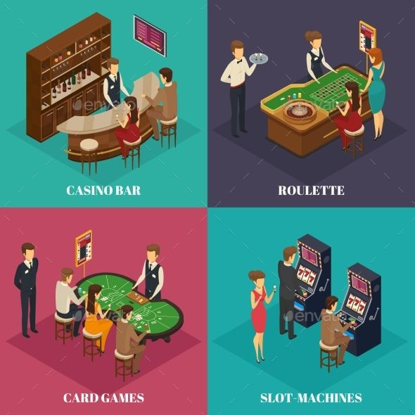 Casino Isometric Composition
