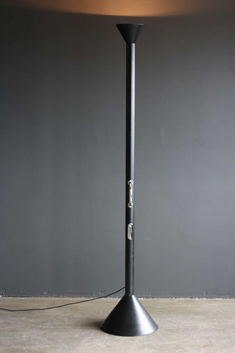 Black Callimaco Floorlamp Ettore Sottsass For Artemide 1stdibs