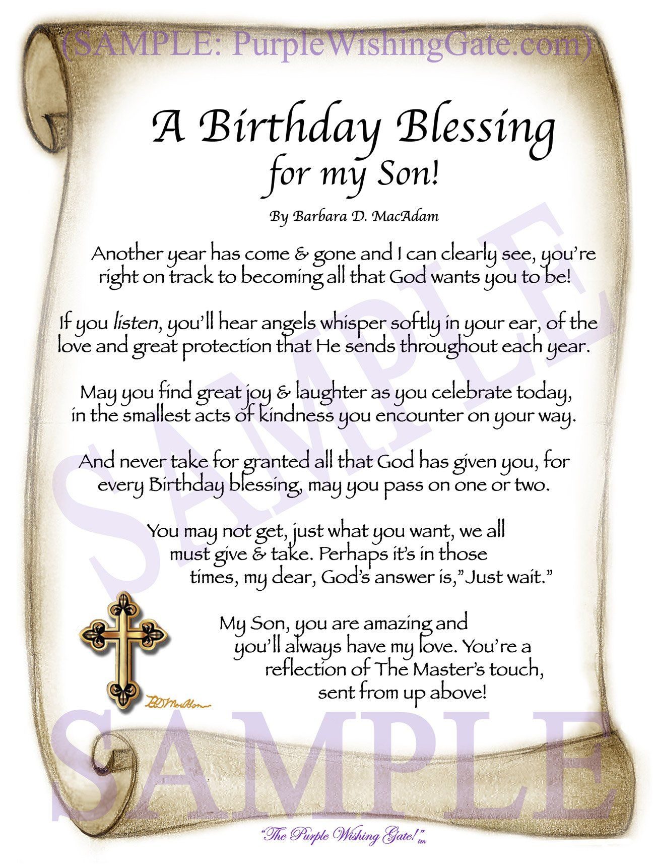 A birthday blessing for my son birthday blessings