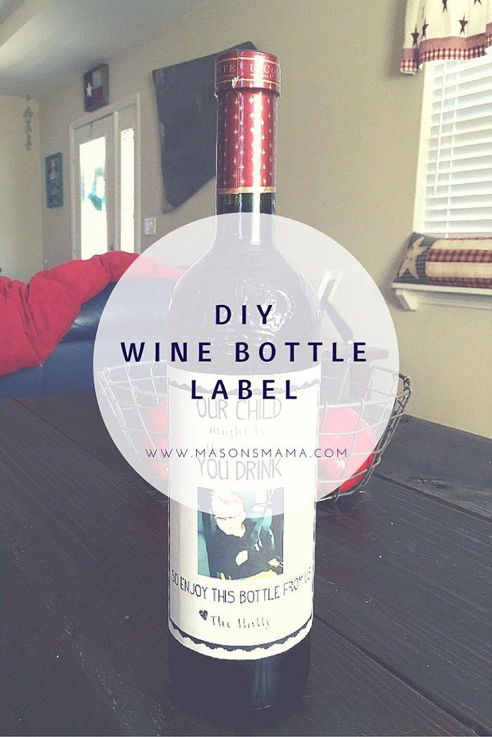 wine wedding shower gift poem%0A  Wine Bottle Label for Teacher    DIY   Mason u    s Mama