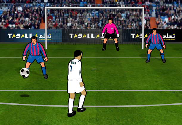 لعبة مباراة برشلونة وريال مدريد العاب ميزو Sports Soccer Field Soccer