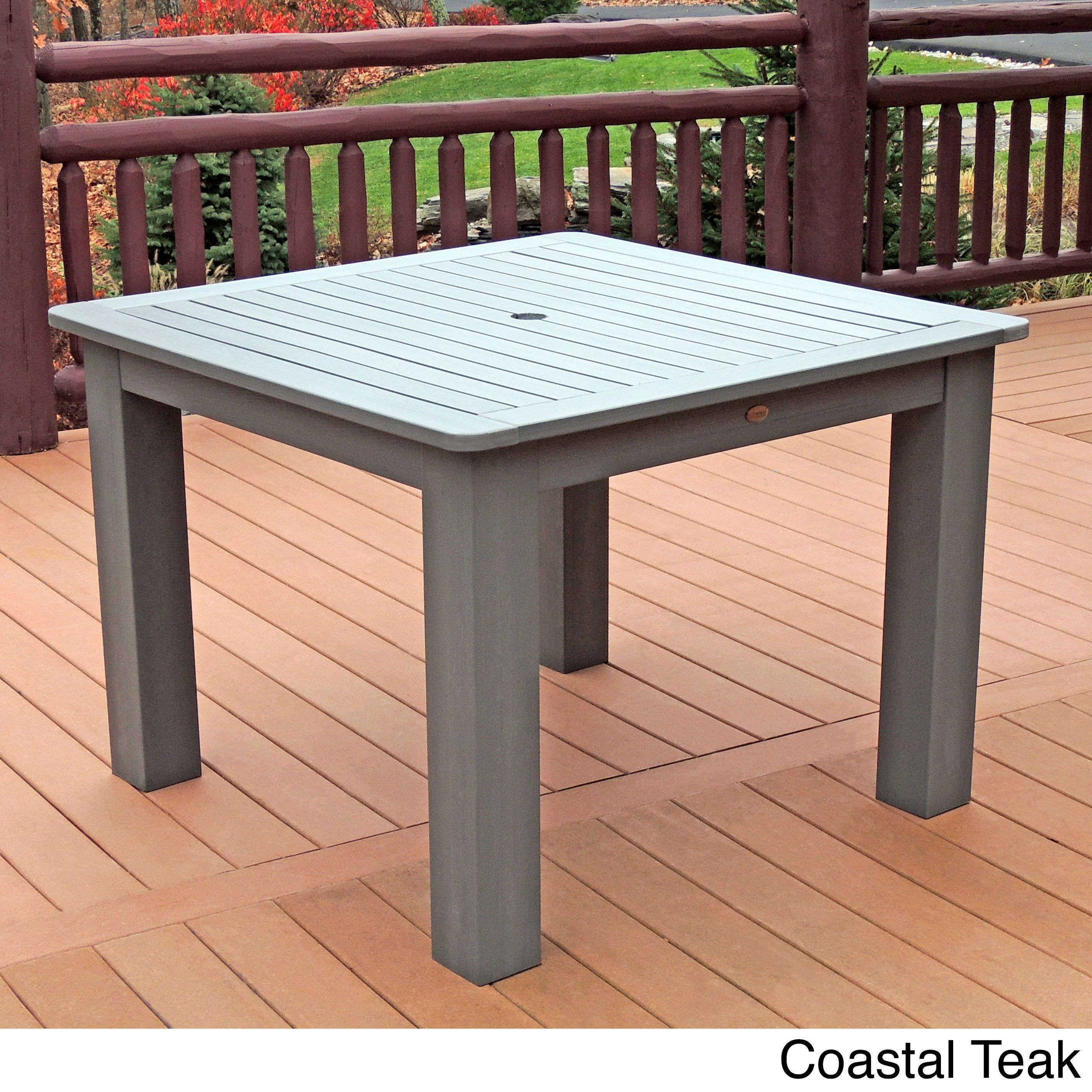 highwood eco friendly synthetic wood 42 x 42 inch square dining rh pinterest ca