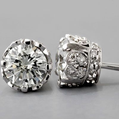 Antique Diamond Earrings These Are Stunning I Am Not Usually A Fan Of Regular
