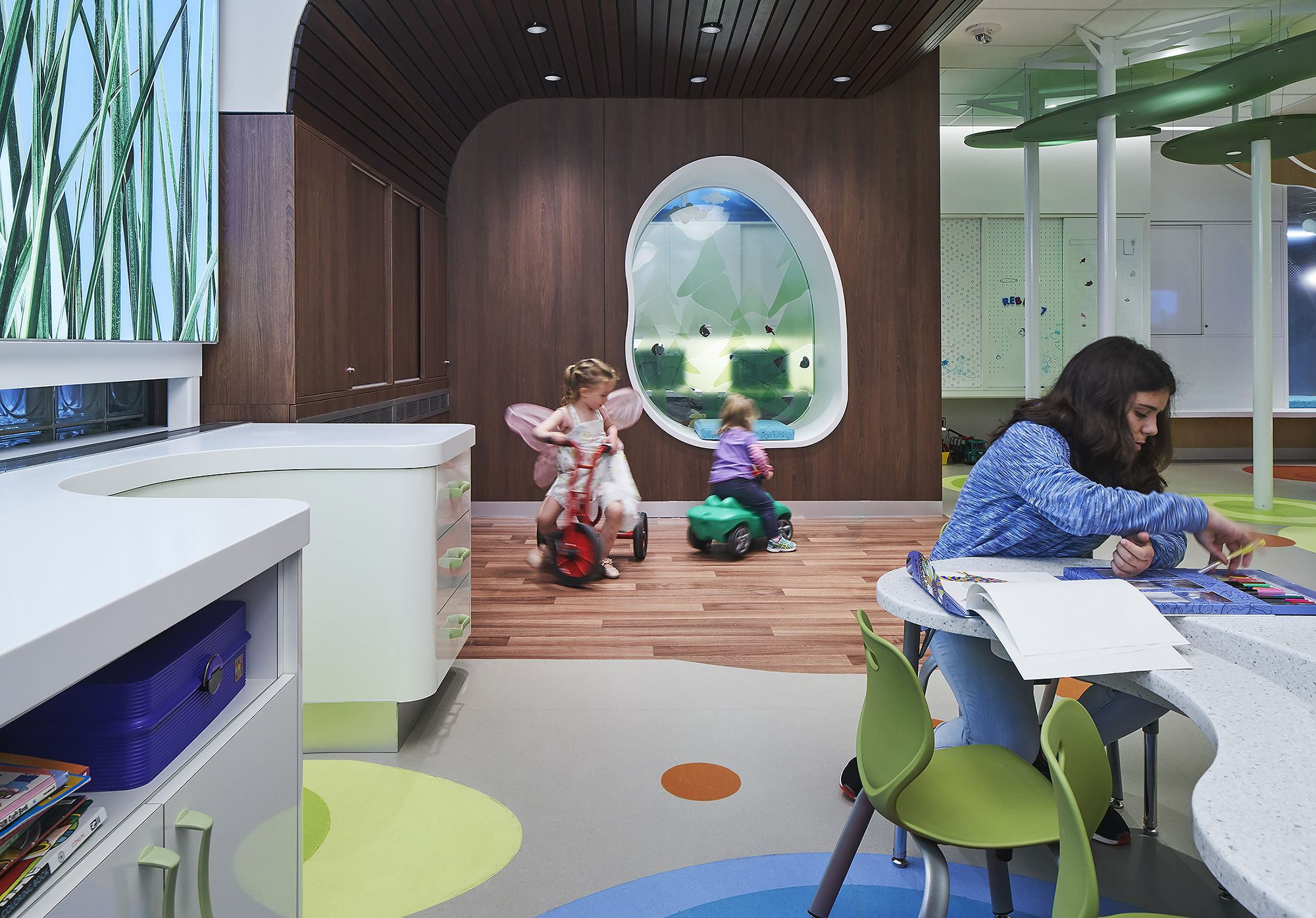 Designing healthcare spaces for kids infusing a sense of