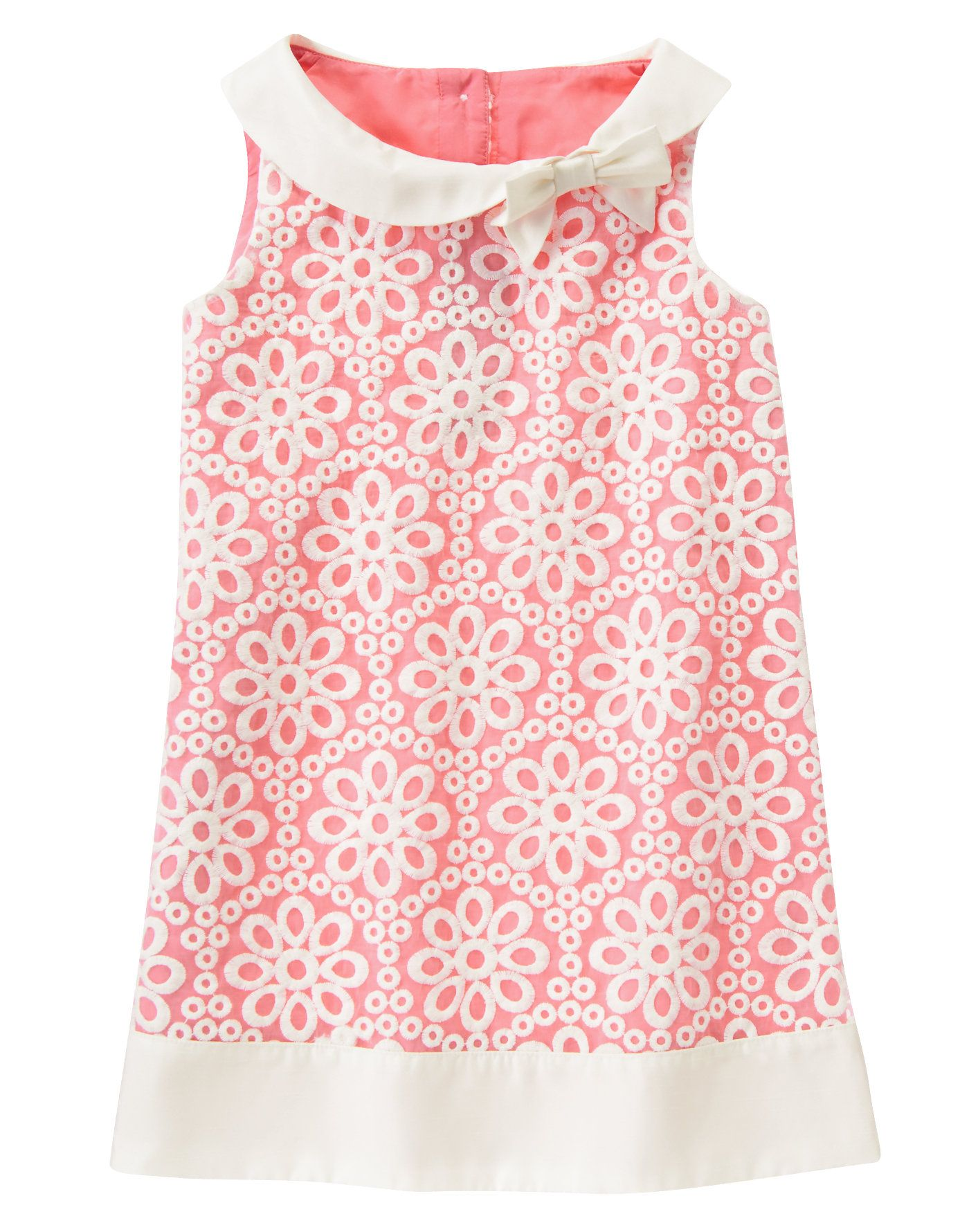 Embroidered Organza Dress at Gymboree/ Love the collar idea | sewing ...