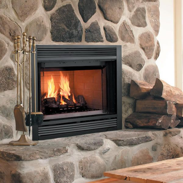 Majestic Sovereign Heat Circulating Wood Burning Fireplace In 2020 Mountain House Decor Wood Wood Burning