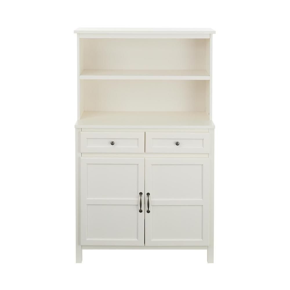 Stylewell Stylewell Ivory Wood Transitional Kitchen Pantry 36 In W X 58 In H Sk19311ar1 V The Home Depot Kitchen Cabinet Storage Modern Kitchen Storage Ivory Kitchen Cabinets