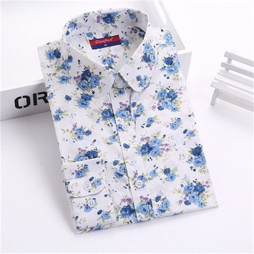 Dioufond Vintage Top Floral Shirts Women Cotton Linen Blouses Elegant Ladies Tops Long Sleeve Shirt Casual Blusas Women Clothing