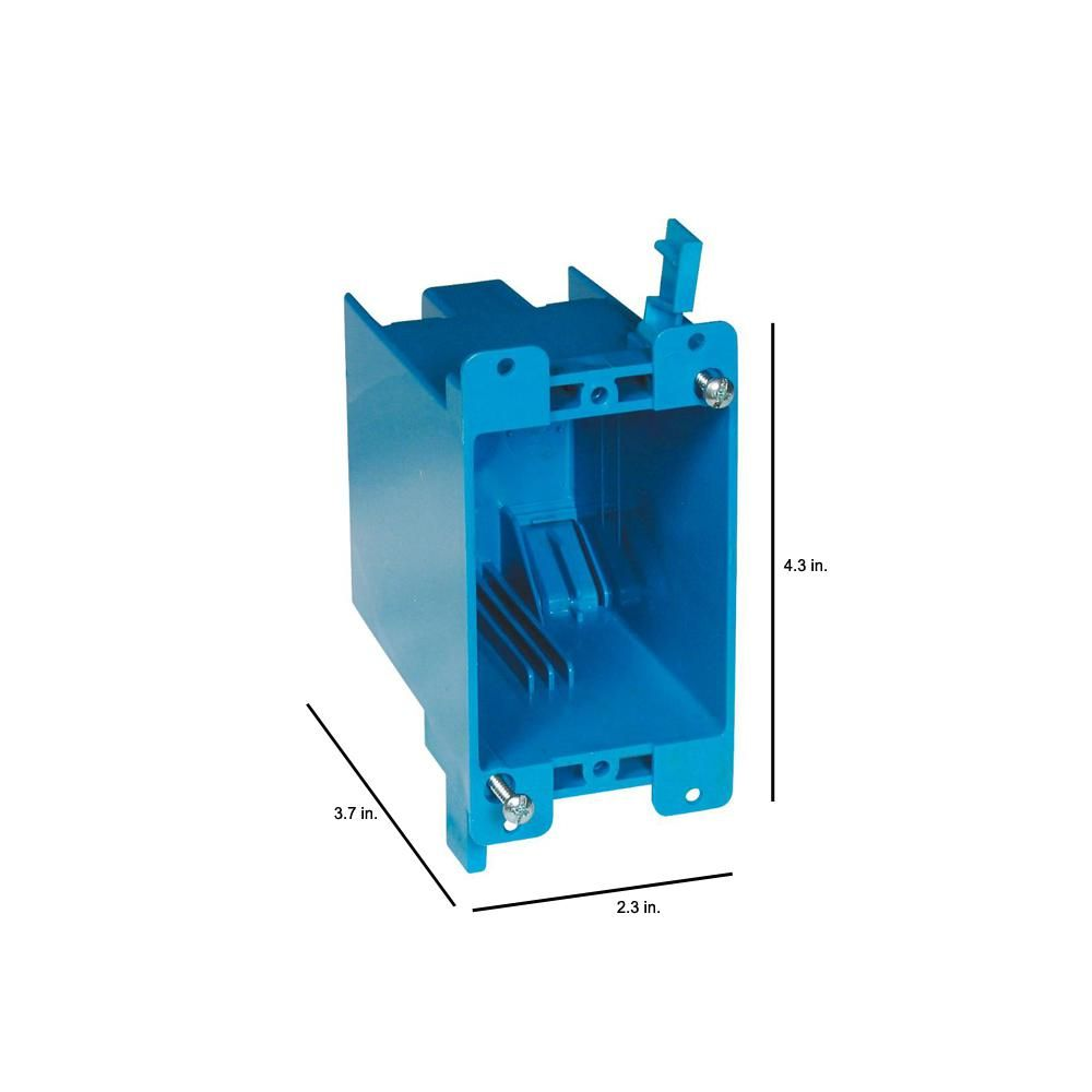 Carlon 1 Gang 20 Cu In Blue Pvc Old Work Electrical Switch And Outlet Box B120r In 2020 Electrical Switches Electricity Home Depot