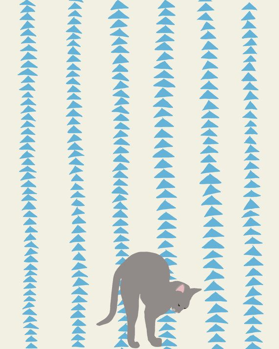 Fine Art Print.  Animals of Yoga: Cat.  September 16, 2012.