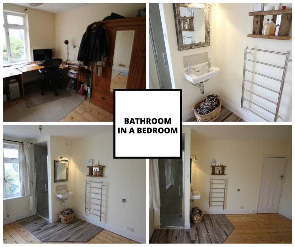 Bathroom in a bedroom. Ready to rent out the spare room