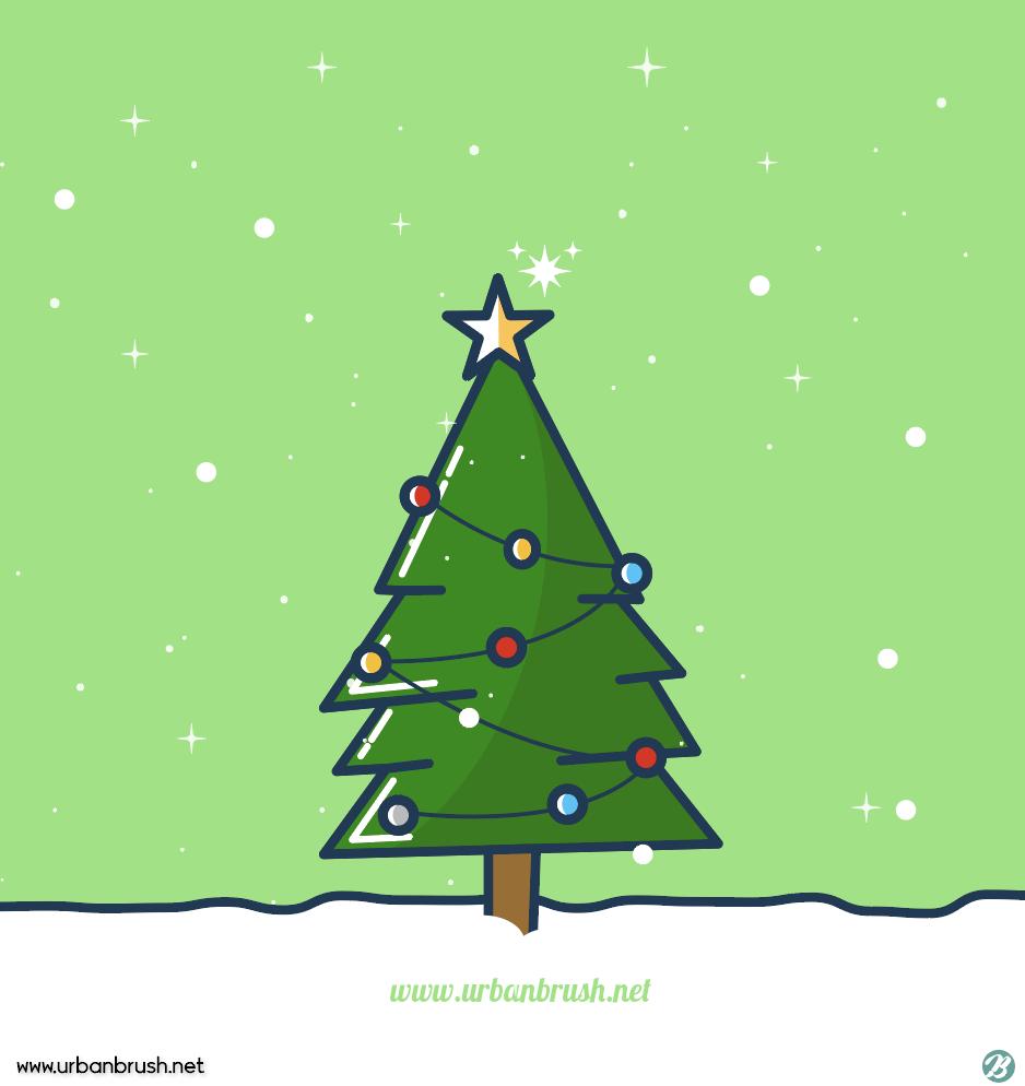 크리스마스트리 일러스트 Ai 무료다운로드 Free Christmas Tree Vector Urbanbrush 크리스마스 트리 크리스마스 카드 크리스마스 이미지