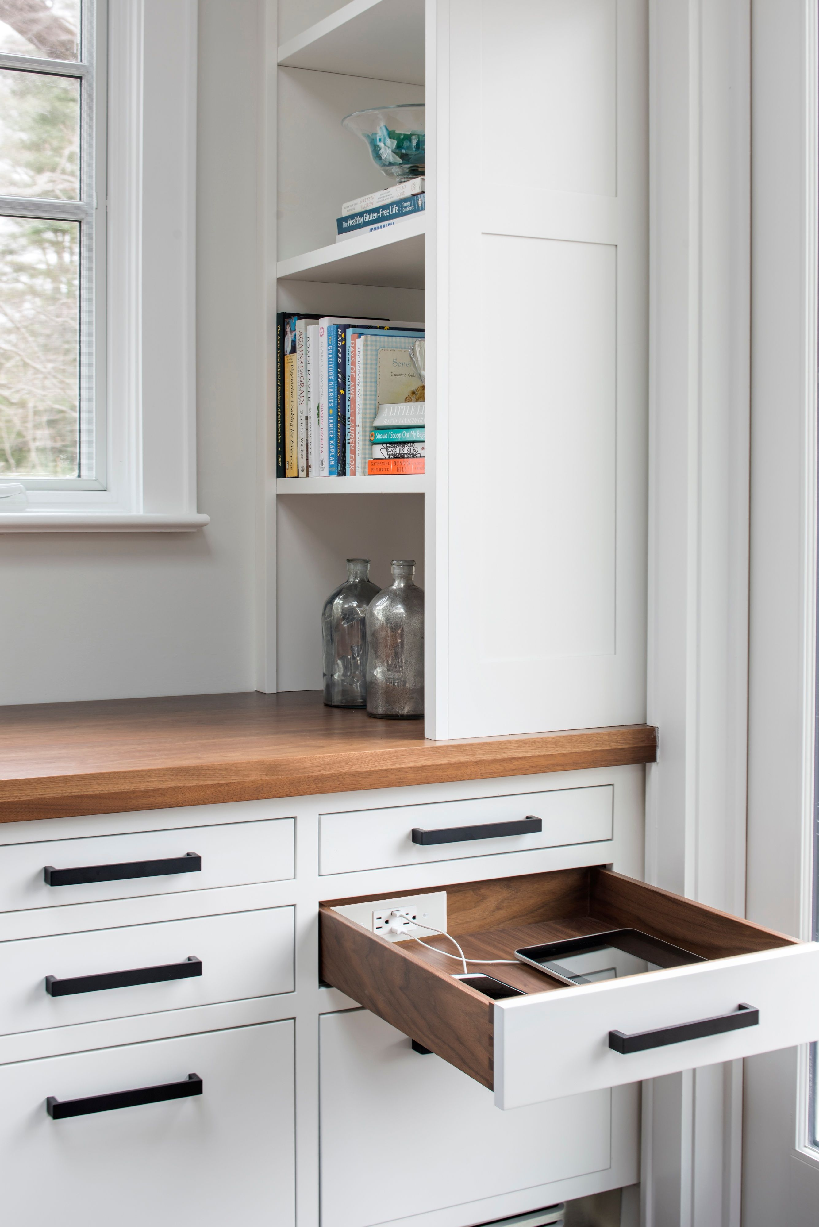 Organize your home or work space with in-drawer charging and ...