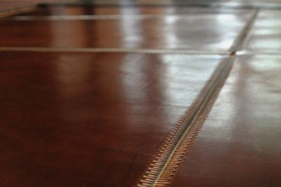 Zip Leather Flooring By Jim Zivic Design Runner And Grid
