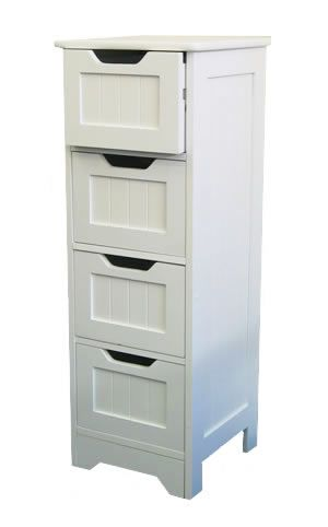 Slim bathroom cabinet from the white lighthouse our for Slim white bathroom cabinet