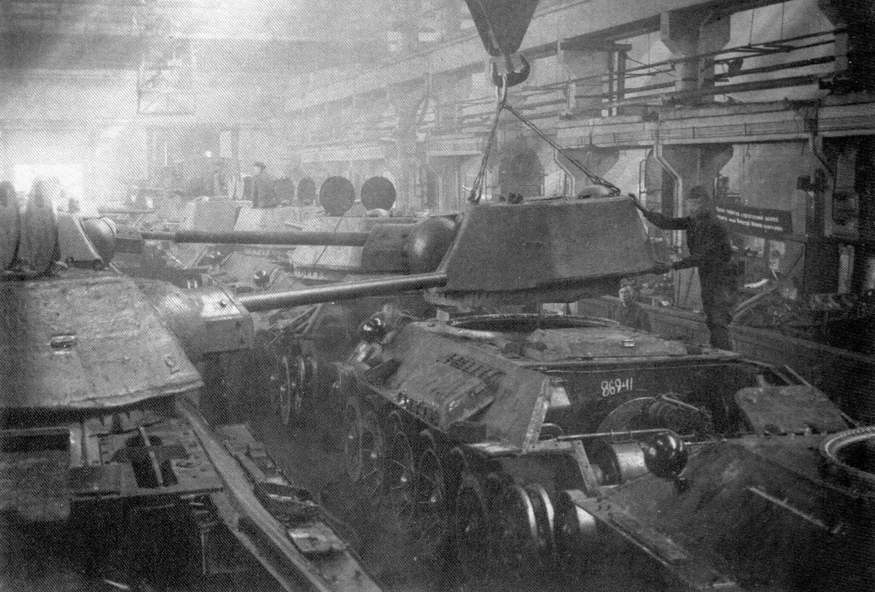 T-34 tanks are completed at Ural Tank Factory 183, Nizhny Tagil, USSR. In  the wake of the 1941 German invasion, Soviet factorie…   Soviet tank, Wwii,  Tanks military