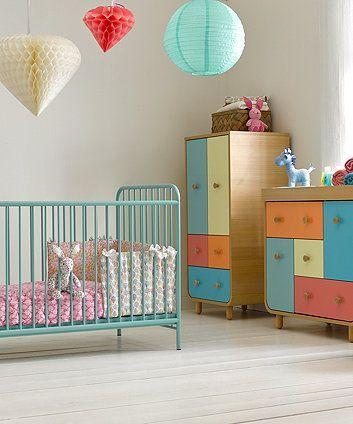 Mutterpflege Carnaby Cot BettTürkis Bett kinderzimmer