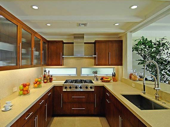 Contemporary Galley Kitchen Design With Efficient Use Of Space For The Home Pinterest