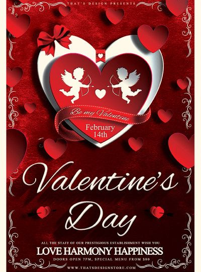 Valentines Day Flyer Template Psd Design for photoshop V3 Thats