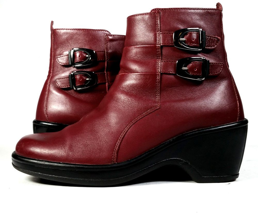 16422280a03 DANSKO ANKLE Boots 37 Red LEATHER ANKLE BOOTS  LOVELY  Womens Sz 7  Dansko   AnkleBoots