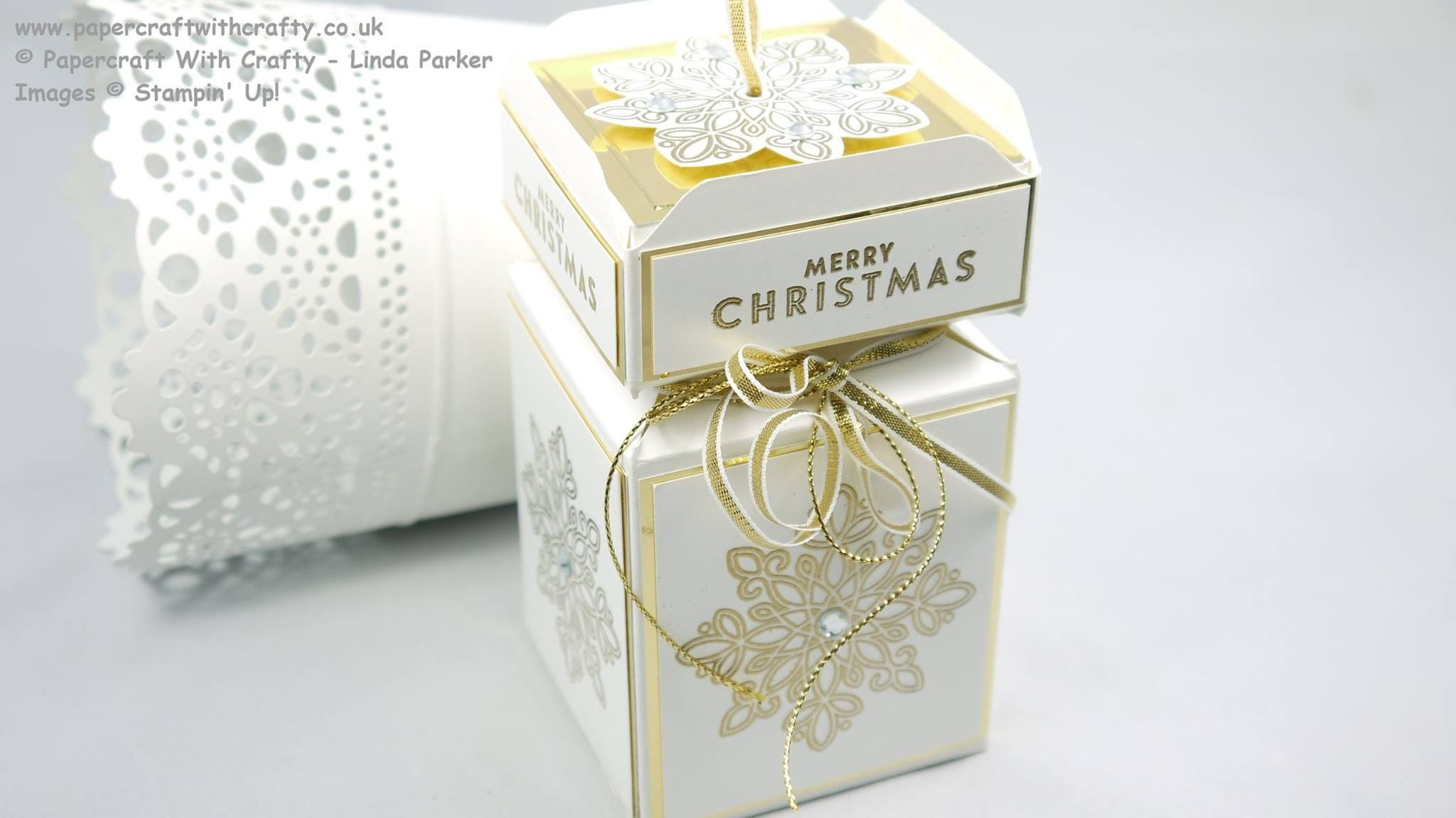 cracker box with box lid top envelope punch board tutorials pinterest verpackung. Black Bedroom Furniture Sets. Home Design Ideas