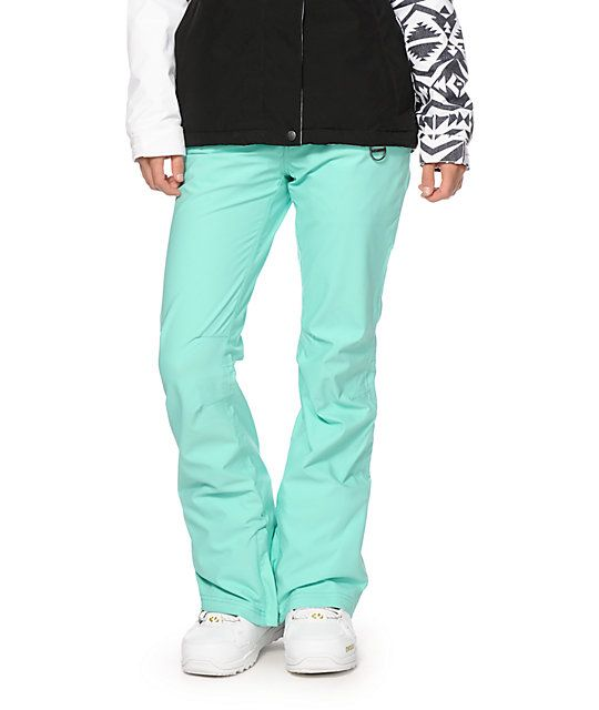 a7f8d2906e5 Aperture - Crystal Mint 10k Stretch - These snowboard pants are cut from  stretch poly material in a flattering slim fit that allows for ample  movement