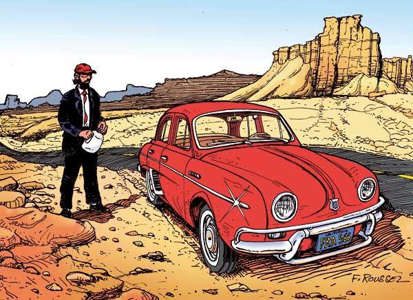 Renault dauphine dessin de roussel b d autos pinterest dauphin dessin renault dauphine - Dessin renault ...