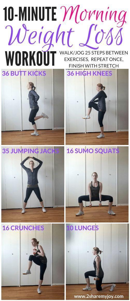 10-minütiges Gewichtsverlust-Training am Morgen - Yoga fitness - #10minütiges #fitness #Gewichtsverl...