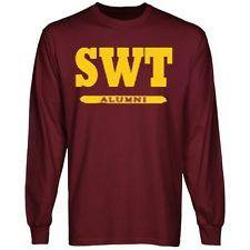 c657e89d442 SWT Alumni- Southwest Texas State University Alumni Shirt - Maroon Long  Sleeve
