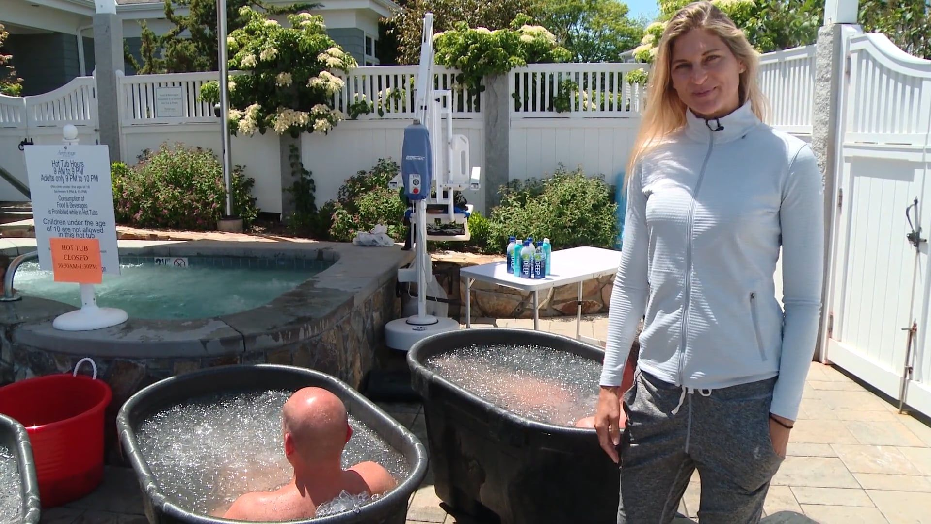 How To Ice Bath At Home By Gabby Reece Walk In Bathtub Hot Tub