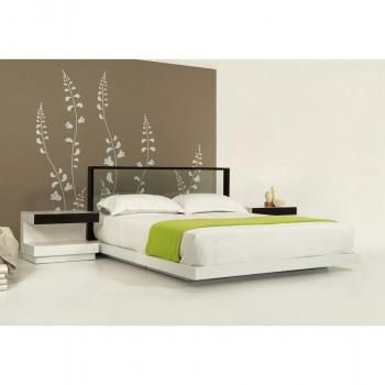 Clear Glass Headboard On A Modern Platform Bed With Stylish