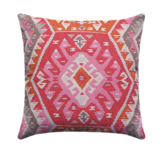 P Kaufmann Longrock Canyon Rose Pillow Cover Kilim Pillow Cover