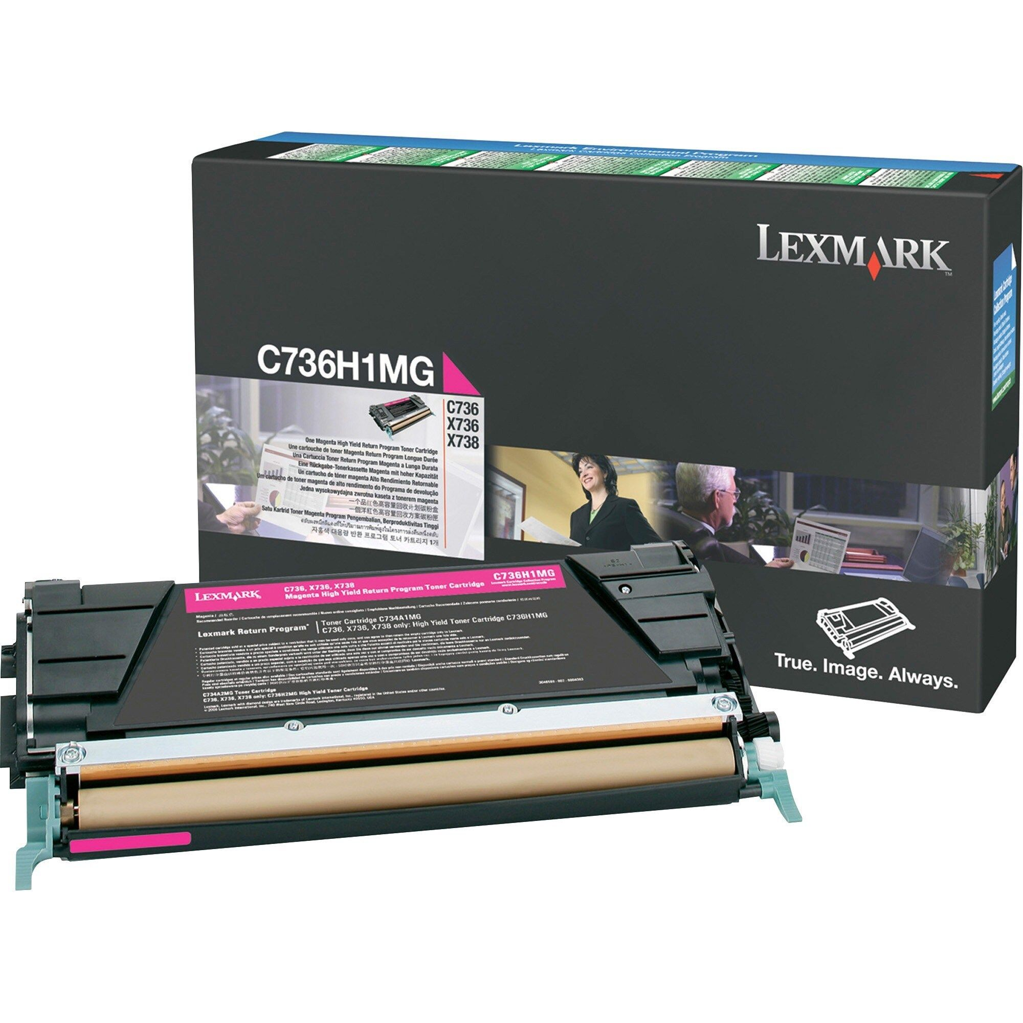 Lexmark Toner Cartridge, Pink in 2019 Laser toner