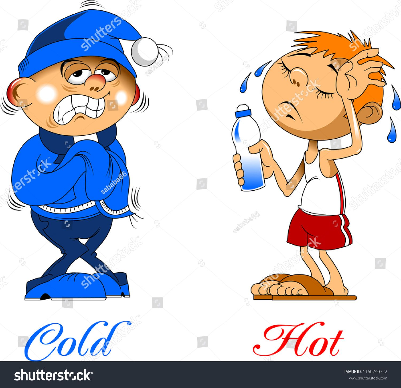 Hot And Cold Boy Vector Clip Art Illustration With Simple Gradients R Ad Ad Boy Vector Hot Cold Clip Art Senses Preschool Cold Clipart [ 1453 x 1500 Pixel ]