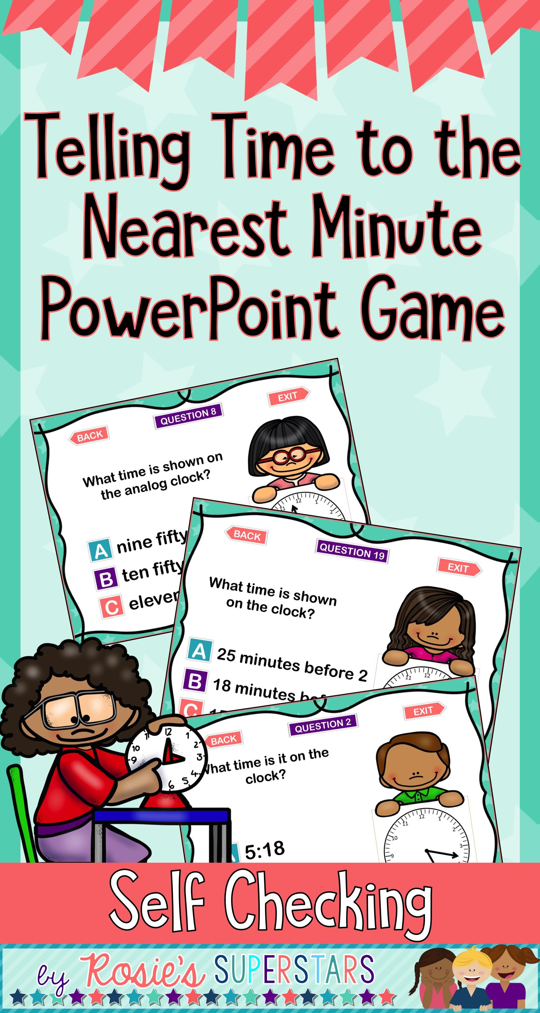 Telling Time To The Nearest Minute Powerpoint Game 36