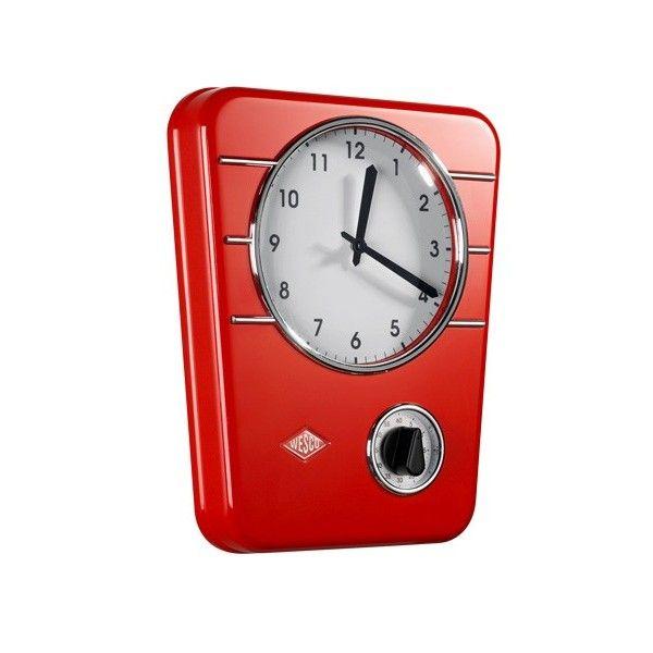 L Horloge Design Rouge Wesco Au Style Retro S Integre Parfaitement