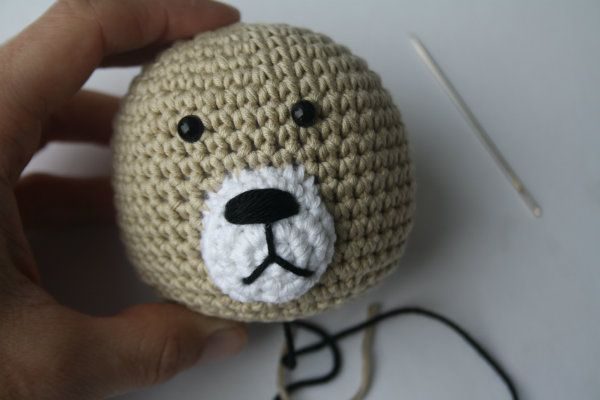 Amigurumi Bear Nose : How to stitch teddy bear nose tutorial haak tips