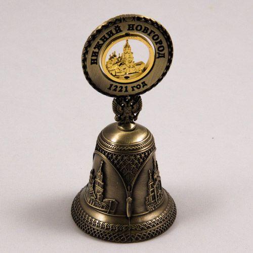 Decorative Bells Endearing Decorative Bell Russianizhny Novgorodbronze Color With Golden Inspiration Design