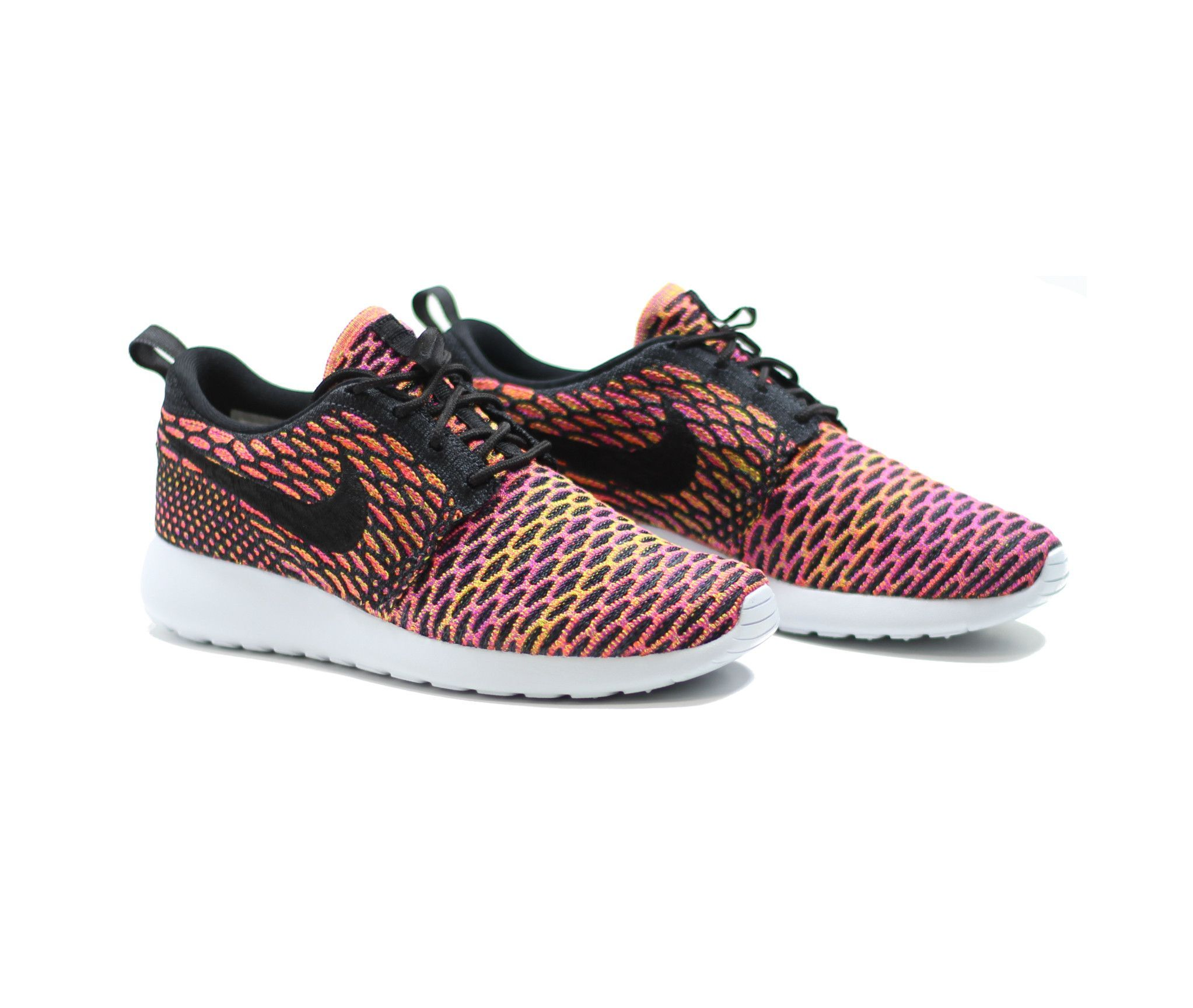 nike roshe run flyknit vivid purple