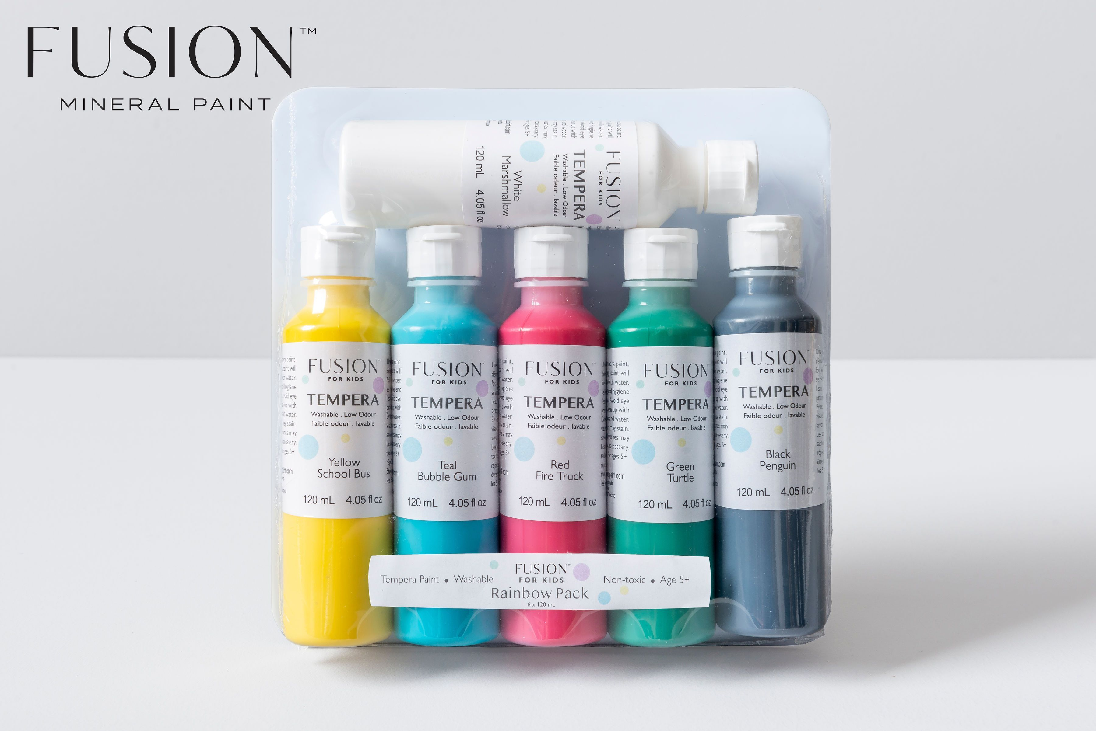 Fusion Tempera Paint For Kids – Rainbow Pack