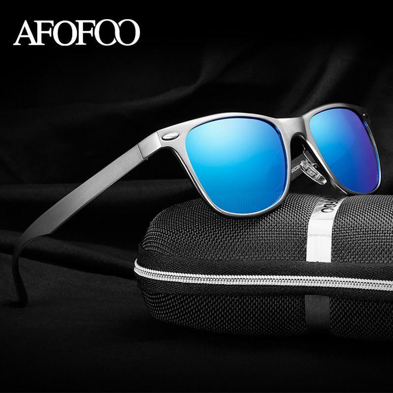 AFOFOO Aluminum Magnesium Polarized Sunglasses Brand Design Vintage Women  Men Driving Mirror Sun glasses UV400 Retro Male Shades  Affiliate 4581cd6f4a