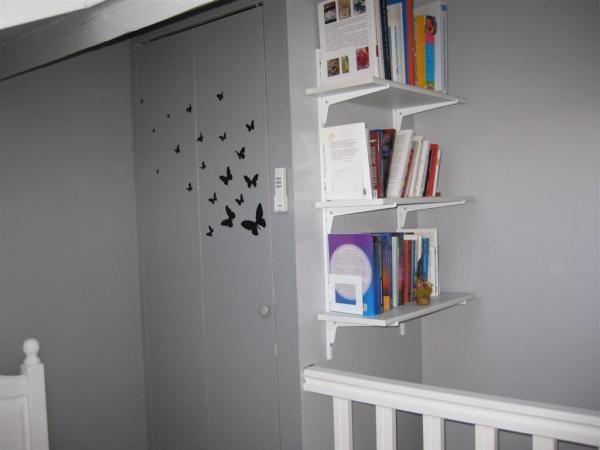 pochoirs porte placards chambre parentale - 5 photos - rocad - peinture de porte de garage