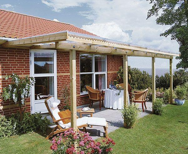 Terrassenüberdachung selber bauen ▷ Schritt für Schritt Outdoor - auswahl materialien terrassenuberdachung