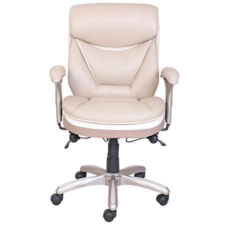 Outstanding Serta Smart Layers Verona Bonded Leather Mid Back Manager Pabps2019 Chair Design Images Pabps2019Com