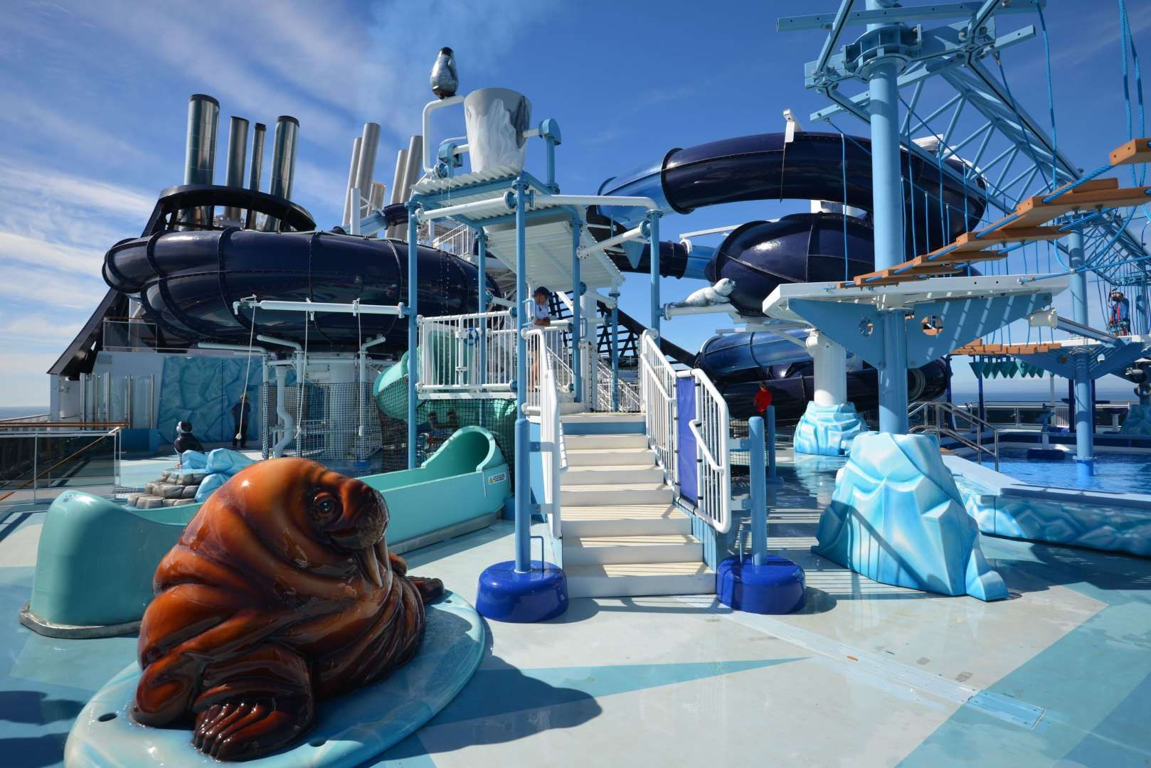 Msc meraviglia features one of the biggest water play